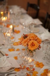 A lovely reception setting for a wedding