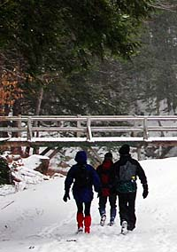 Snowshoeing in Chesterfield, NH