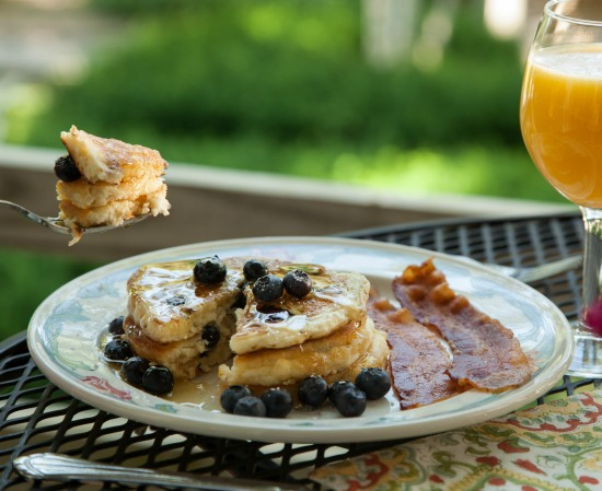 Blueberry pancakes in New Hampshire