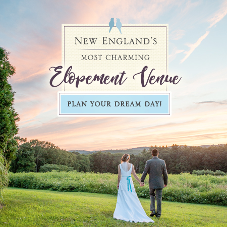New England's Most Charming Elopement Venue - Couple outdoors at sunset