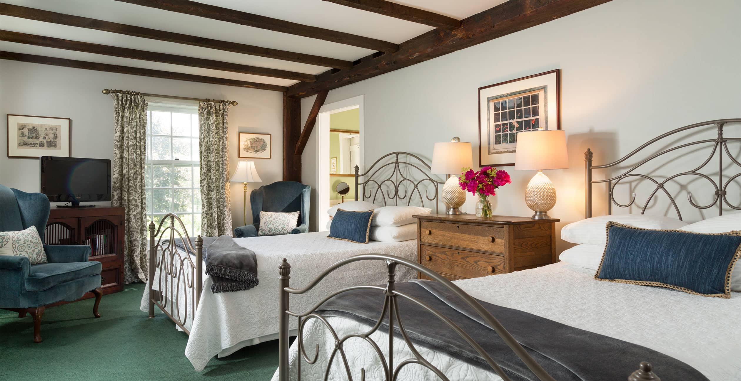 Double Beds at one of the best New Hampshire inns