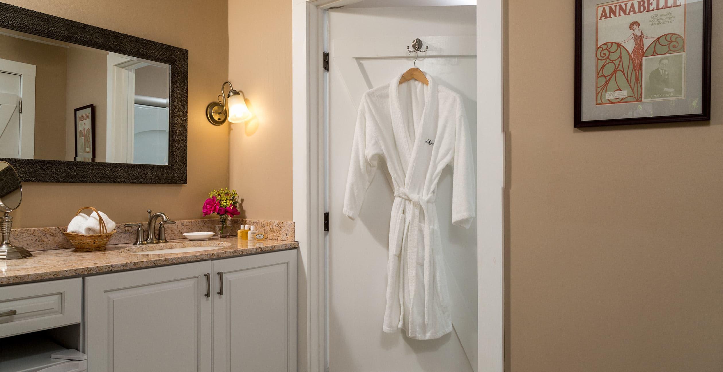 Bathroom vanity in Room 12