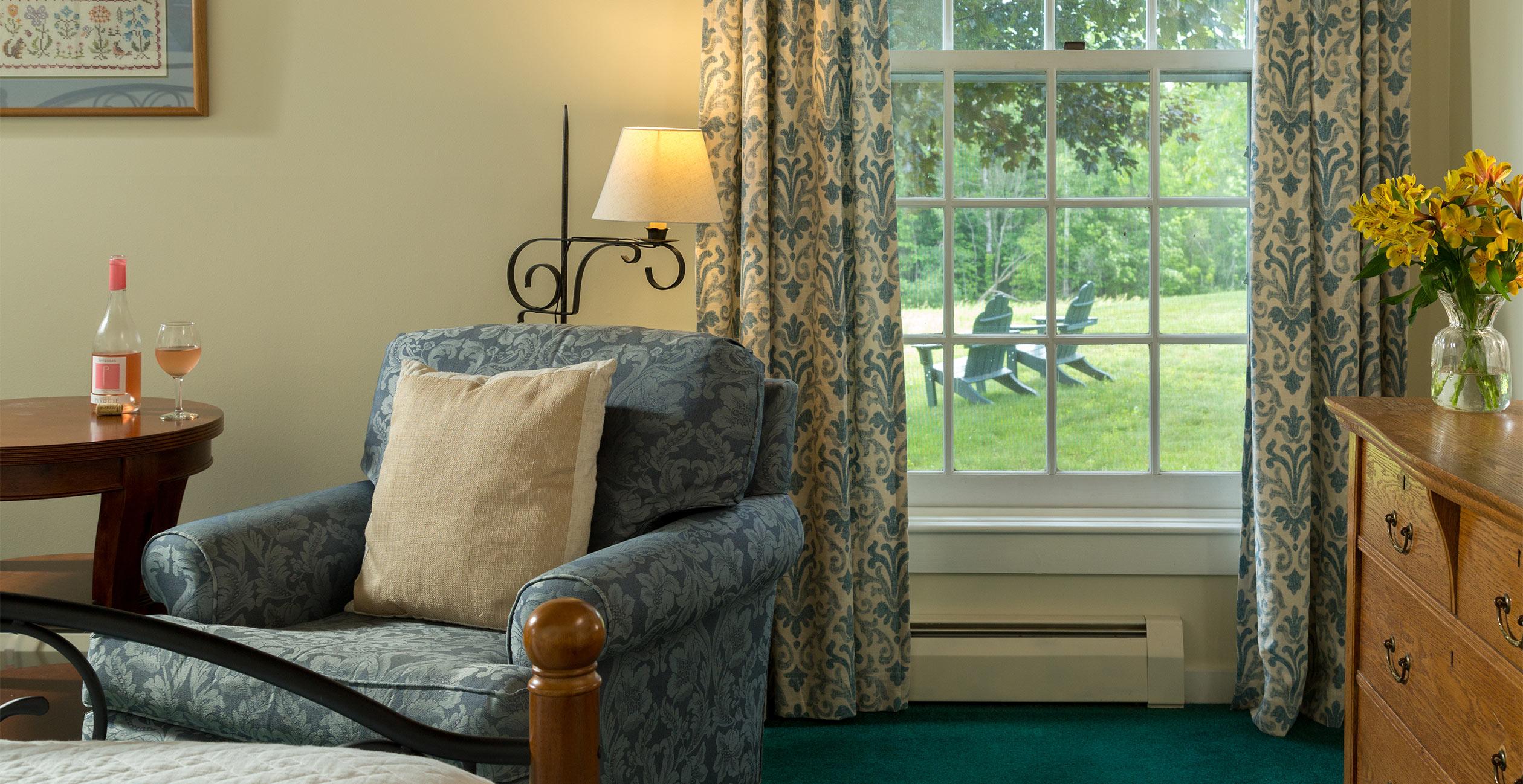 View of back yard through large window