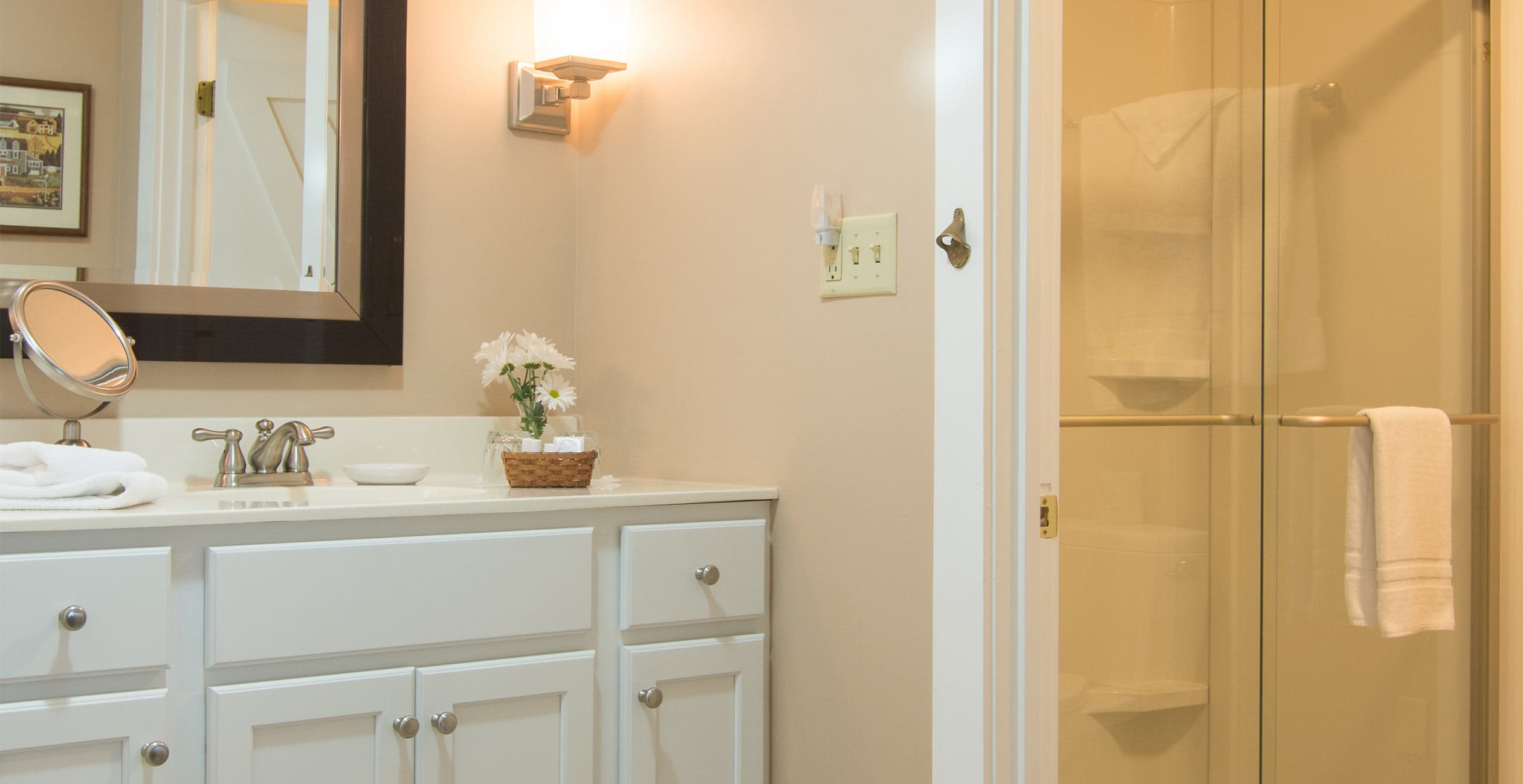 Room 14 Bathroom at one of the best places to stay in New Hampshire