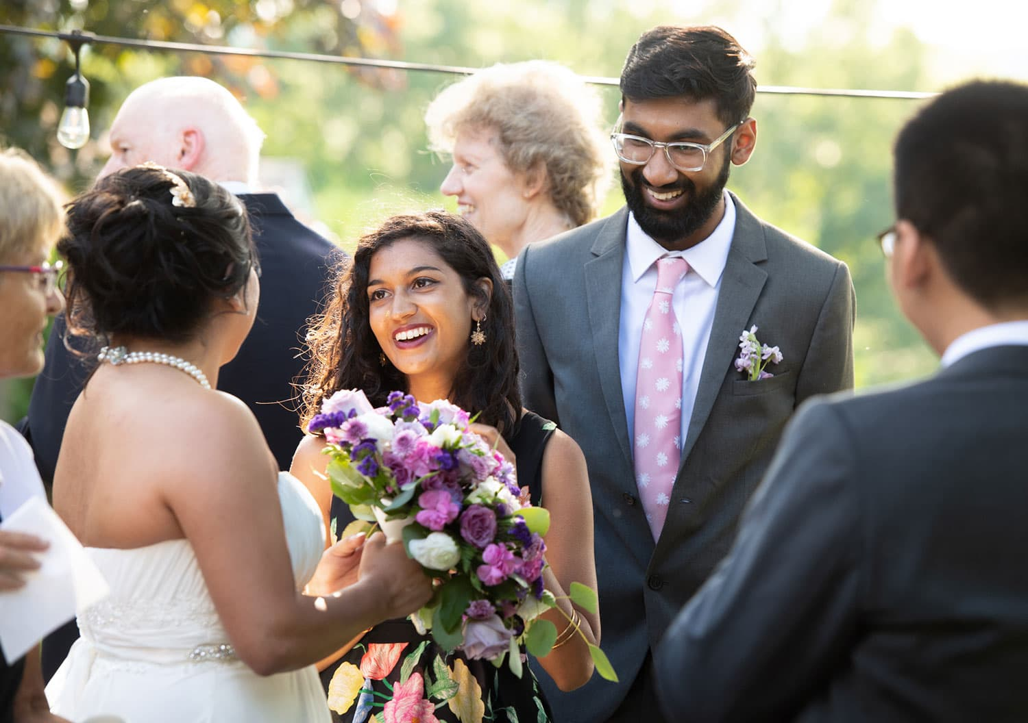 Happy Indian couple on their wedding day