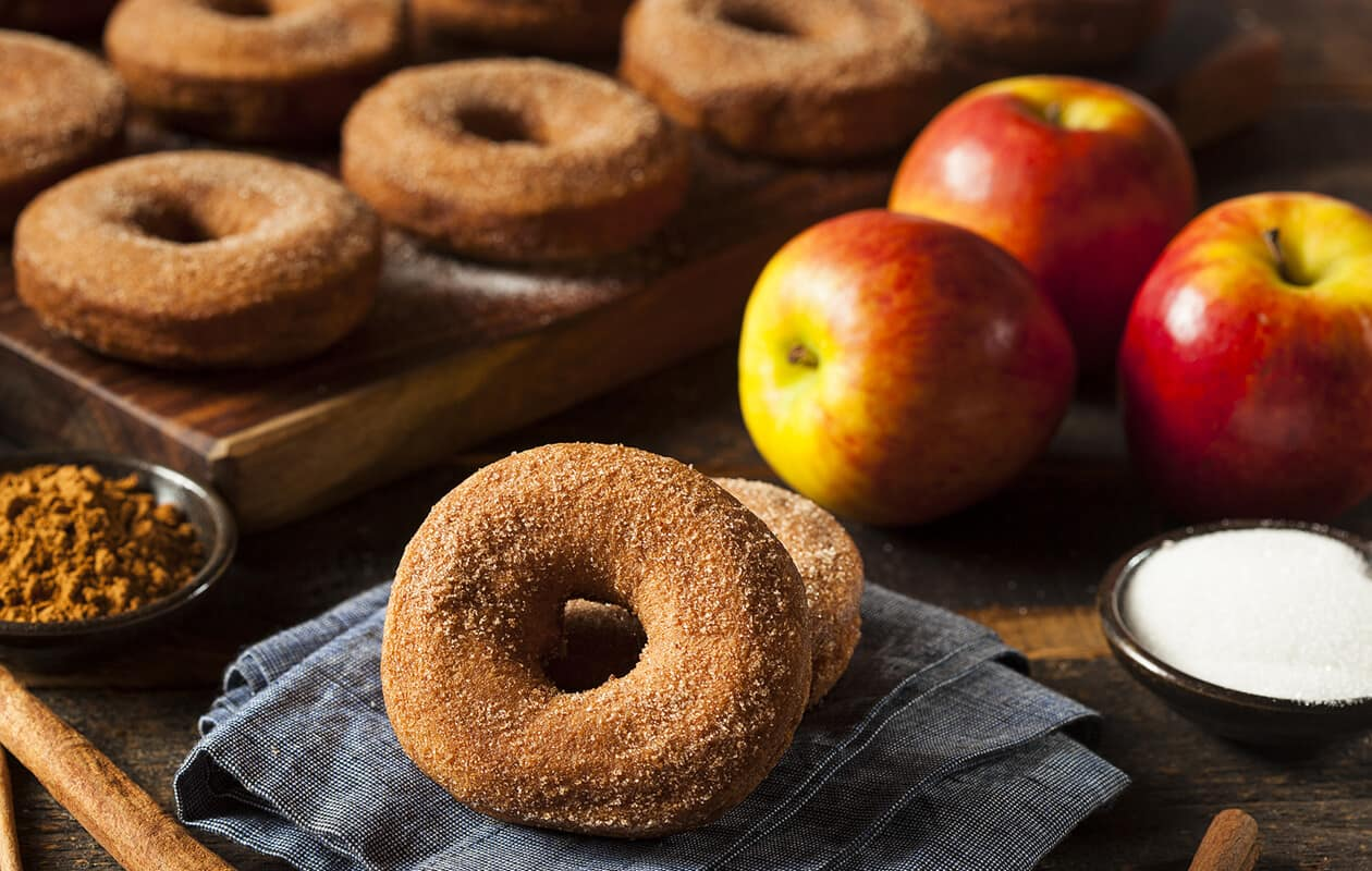apples and cider donuts