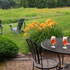 Private Patio at our pet friendly New Hampshire Inn