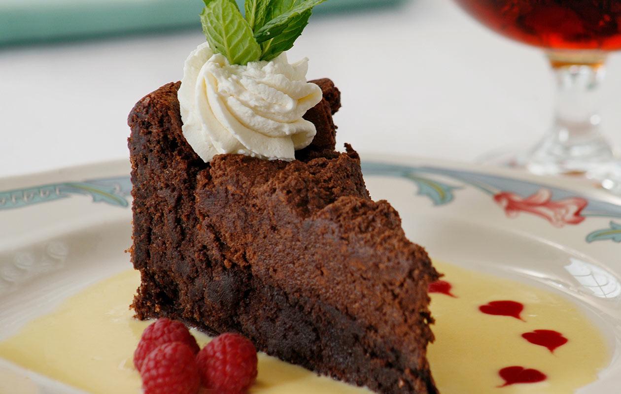 Flourless Chocolate Cake at Chesterfield inn