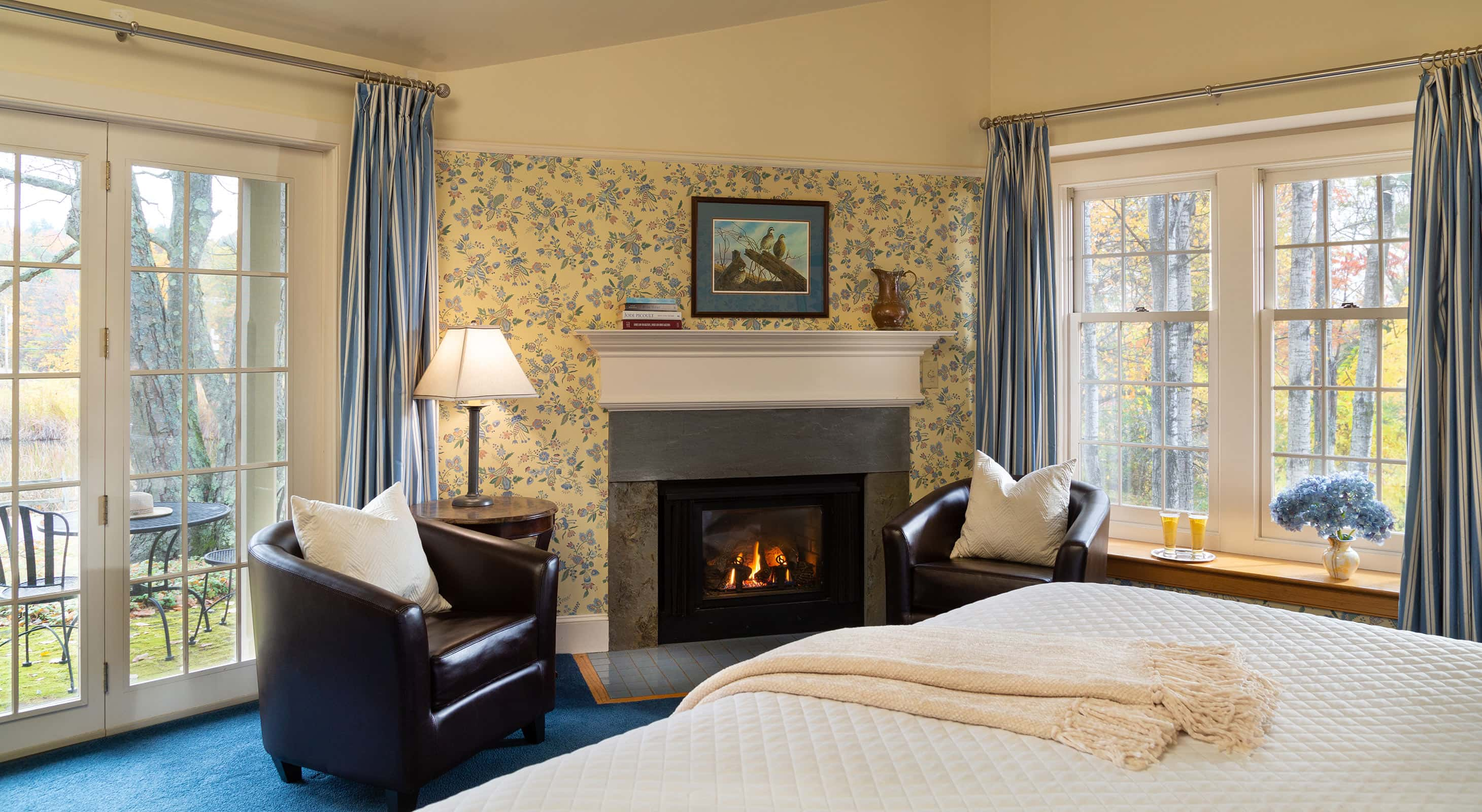 Fireplace room at our New Hampshire Inn