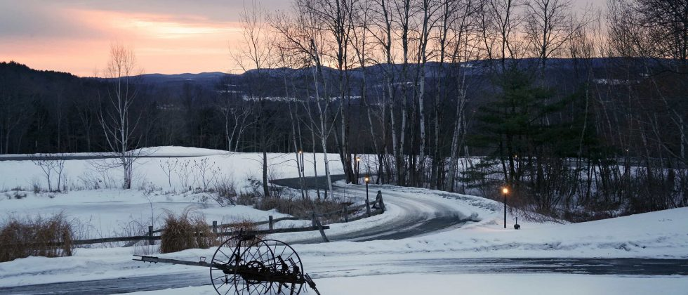 Driveway to Chesterfield Inn in Winter