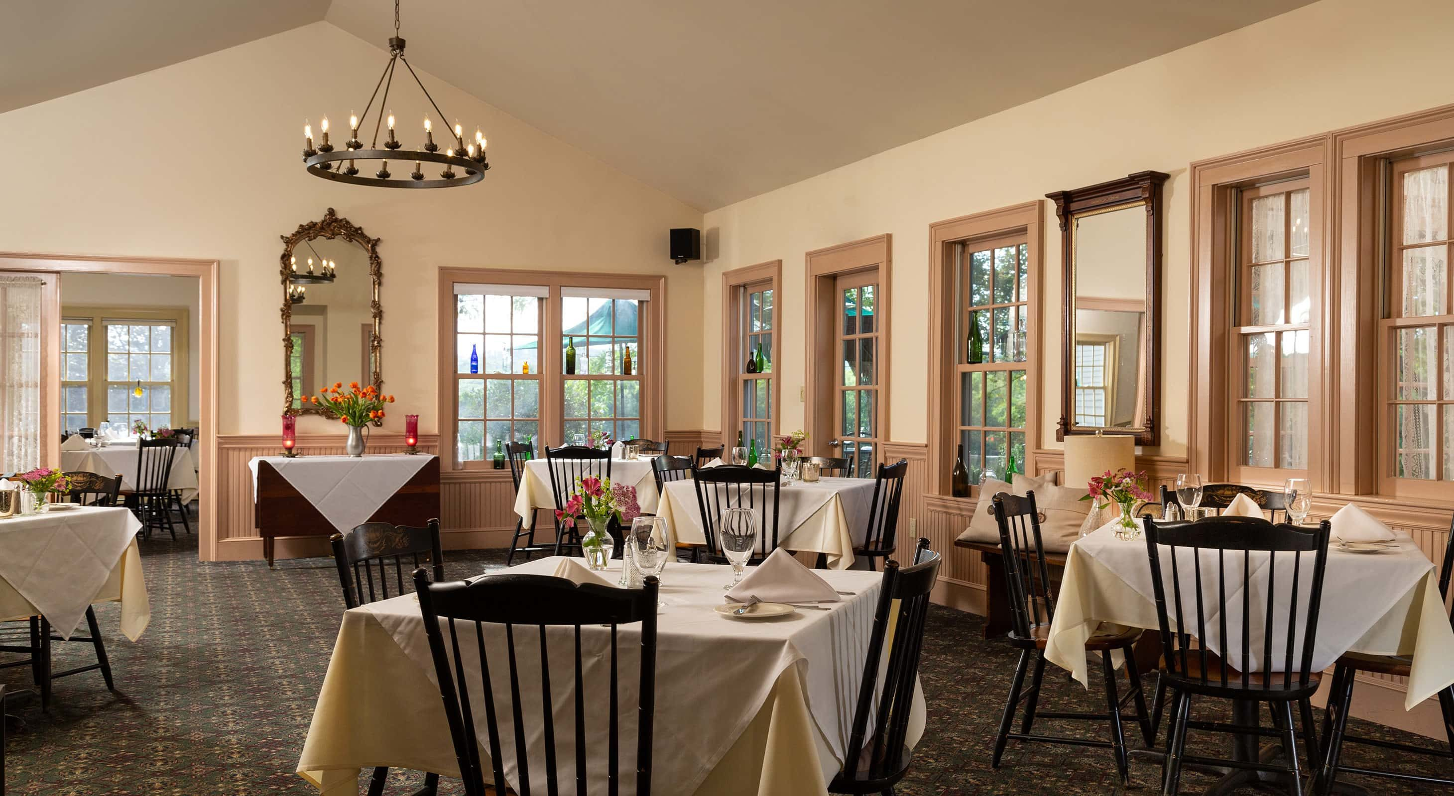 Dining room at our New Hampshire restaurant